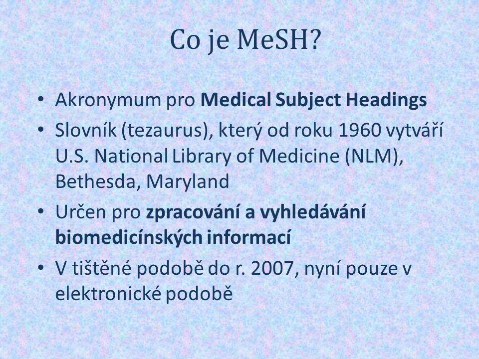 Co je MeSH.