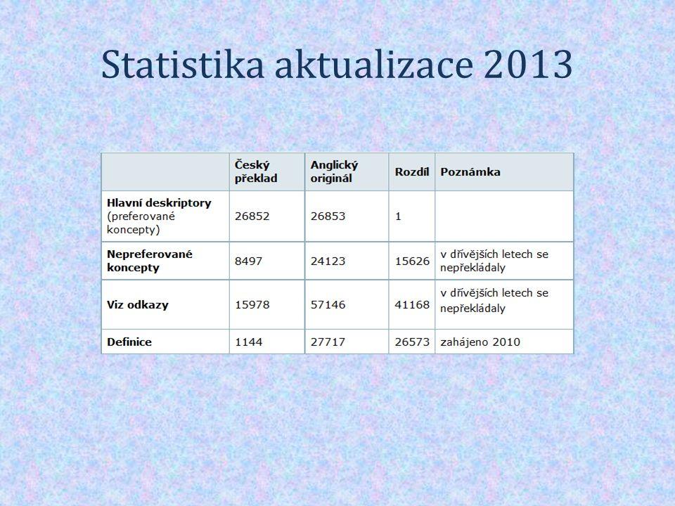 Statistika aktualizace 2013