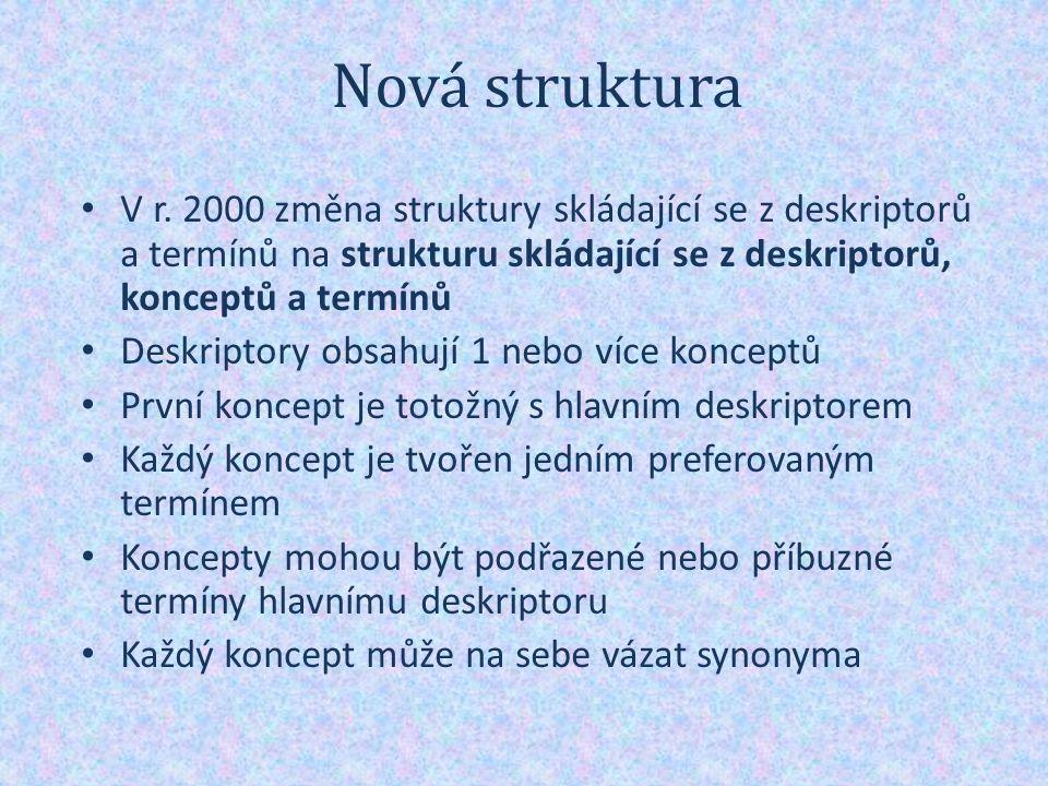 Nová struktura V r.