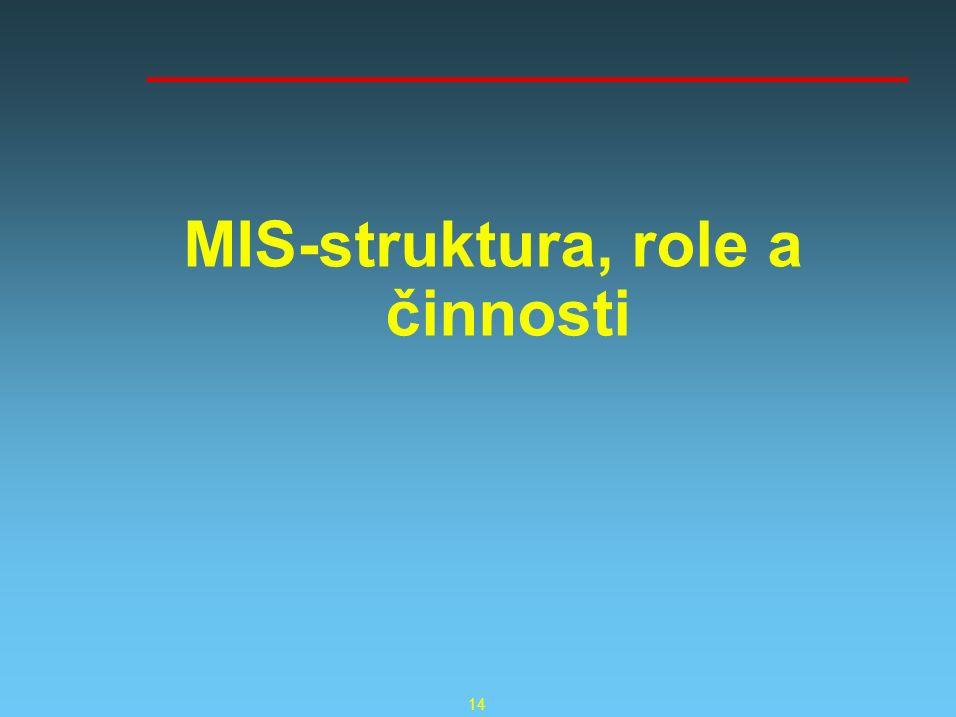 14 MIS-struktura, role a činnosti