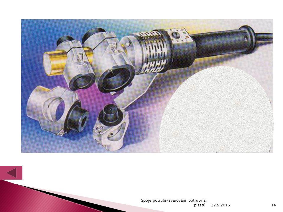 22.9.2016 Spoje potrubí-svařování potrubí z plastů14