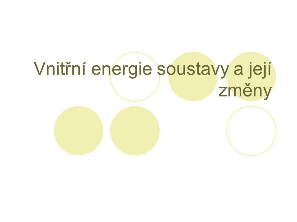 Vnitřní energie soustavy a její změny