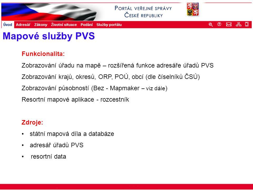 Portál veřejné správy © 2002 IBM Corporation ISSS 2003 Mapové služby PVS Funkcionalita: Zobrazování úřadu na mapě – rozšířená funkce adresáře úřadů PV