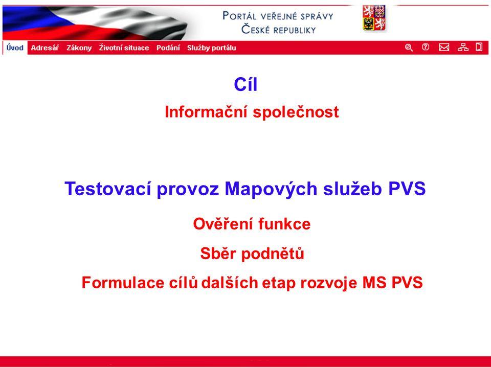 Portál veřejné správy © 2002 IBM Corporation ISSS 2003 Testovací provoz Mapových služeb PVS Ověření funkce Sběr podnětů Formulace cílů dalších etap ro