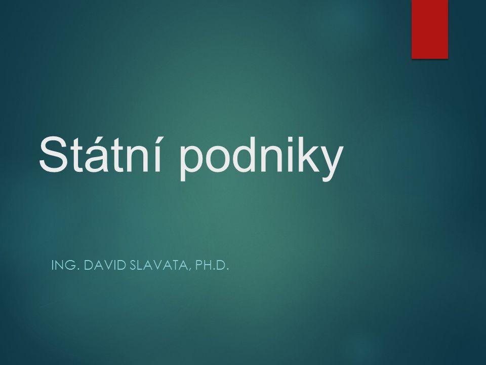 Státní podniky ING. DAVID SLAVATA, PH.D.