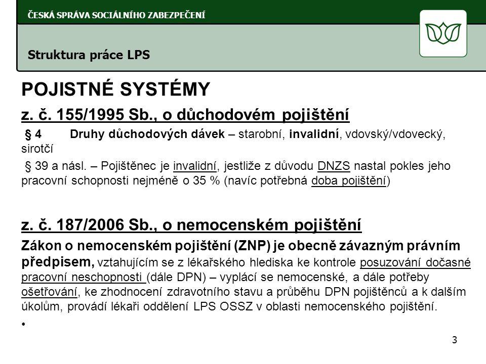 POJISTNÉ SYSTÉMY z. č.