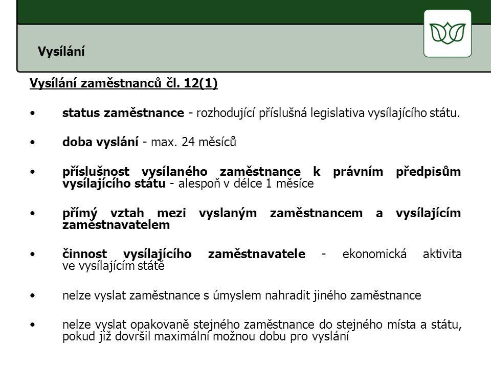 Vysílání OSVČ čl.