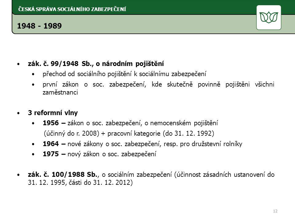 1948 - 1989 zák. č.