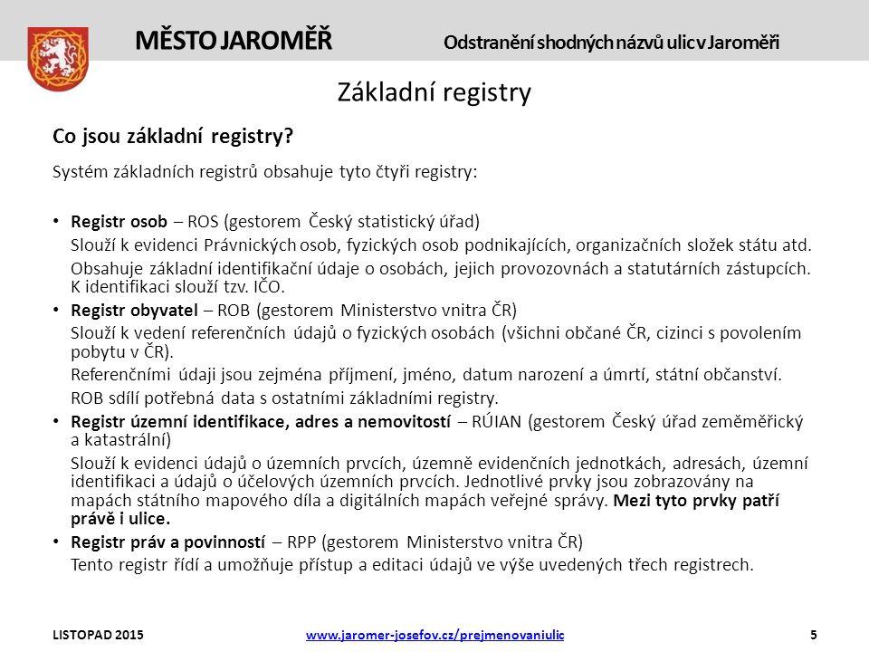 Základní registry Co jsou základní registry.