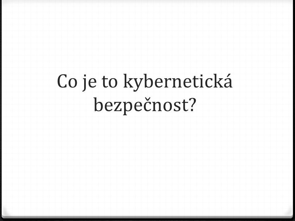Co je to kybernetická bezpečnost?