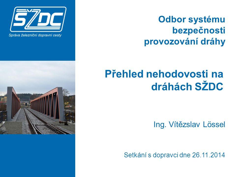 Přehled nehodovosti na dráhách SŽDC 22 A1: Praha-Libeň Významné mimořádné události