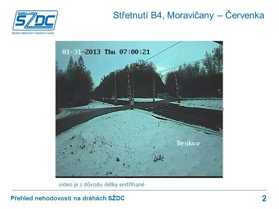 Přehled nehodovosti na dráhách SŽDC 23 A1: Děčín-Prostřední Žleb - Děčín hl.