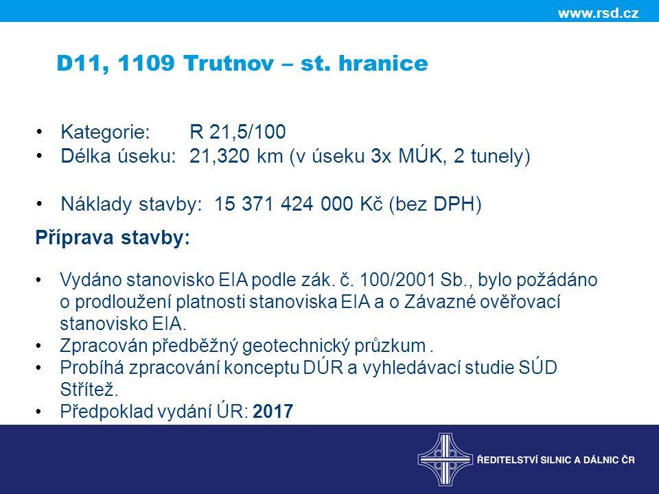 www.rsd.cz D11, 1109 Trutnov – st.