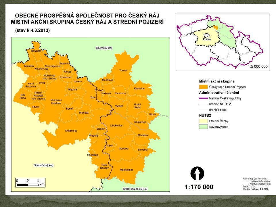 Obecně prospěšná společnost pro Český ráj působí v Českém ráji od roku 2003, a to na území zahrnující centrální část Českého ráje a od roku 2006 působí i na území větší části Středního Pojizeří.
