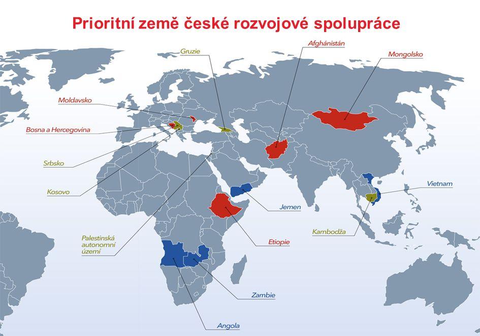 Prioritní země české rozvojové spolupráce