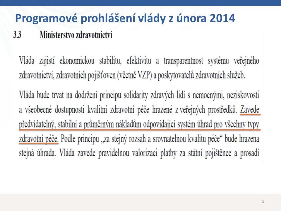 5 Programové prohlášení vlády z února 2014