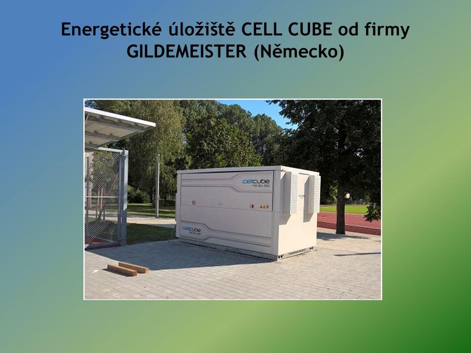Energetické úložiště CELL CUBE od firmy GILDEMEISTER (Německo)