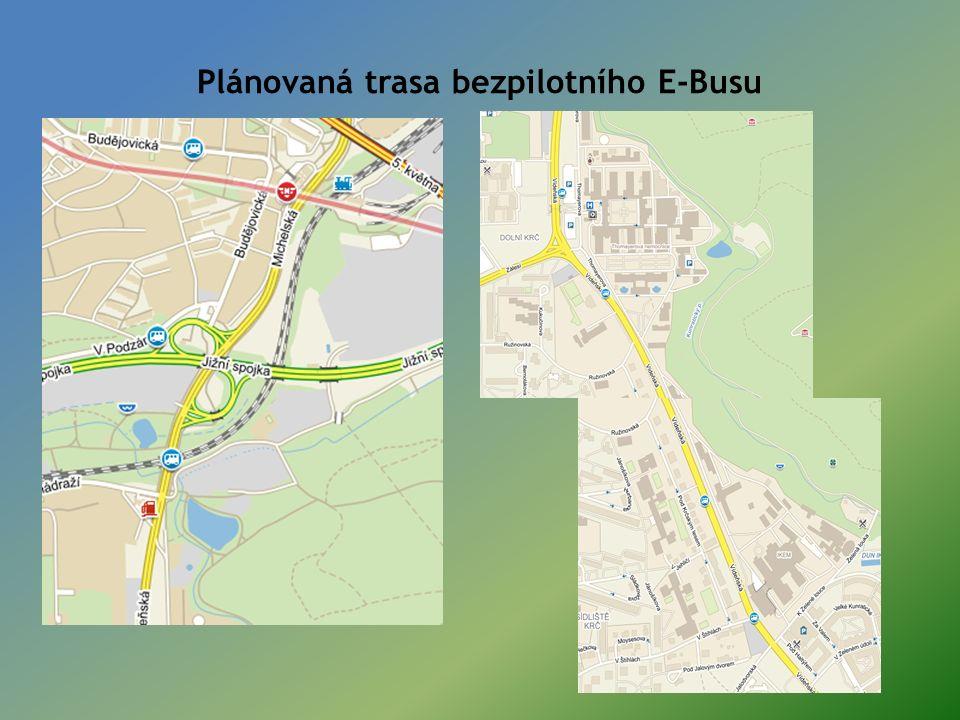 Plánovaná trasa bezpilotního E-Busu