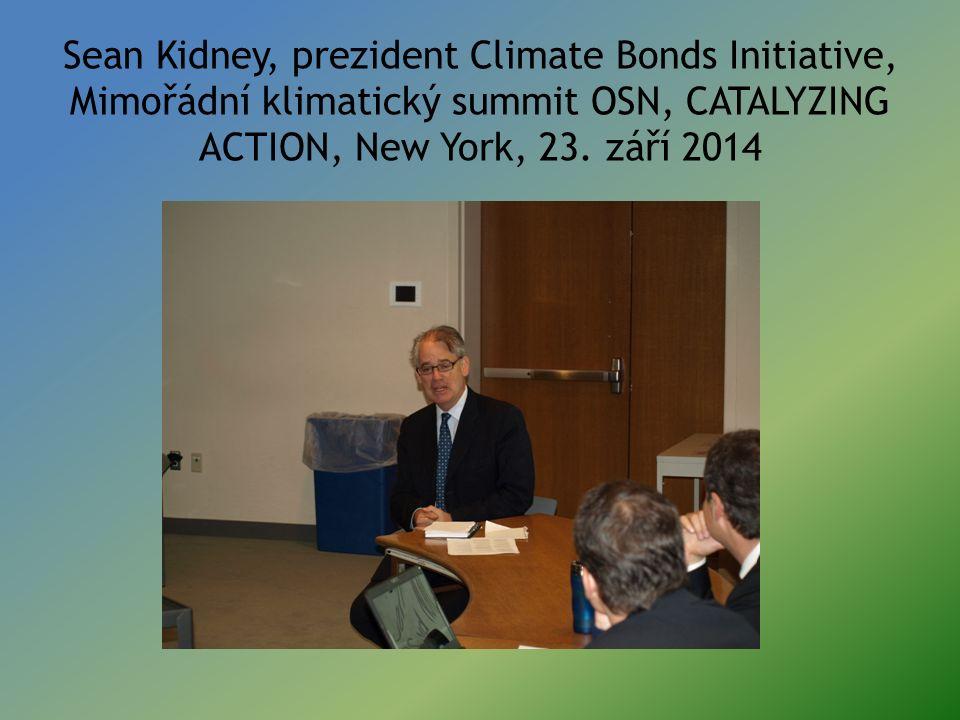 Sean Kidney, prezident Climate Bonds Initiative, Mimořádní klimatický summit OSN, CATALYZING ACTION, New York, 23. září 2014