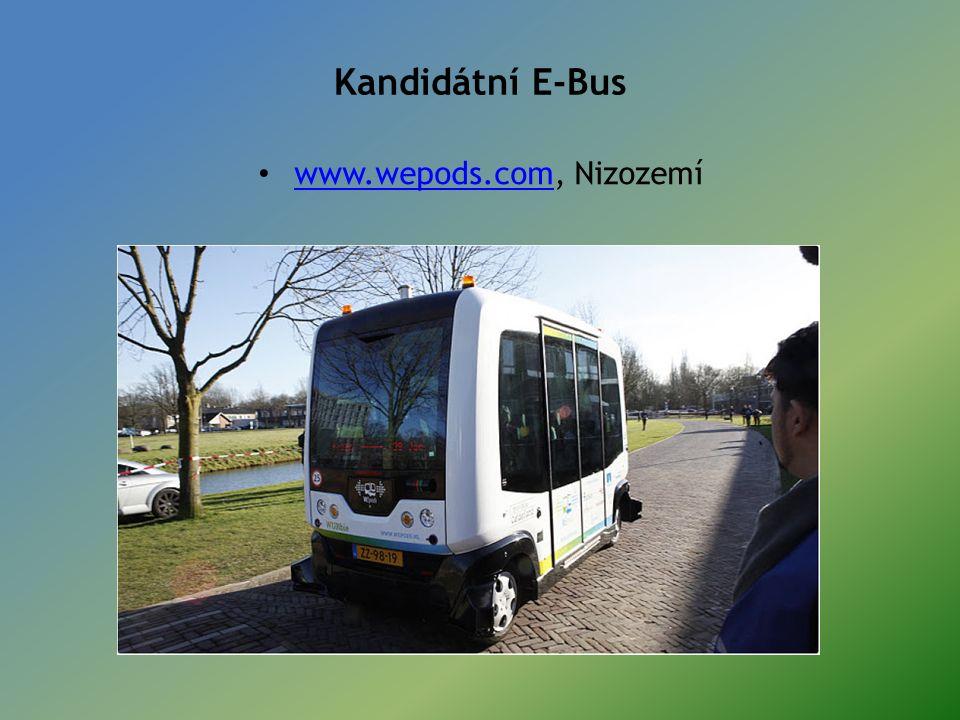 Kandidátní E-Bus www.wepods.com, Nizozemí www.wepods.com