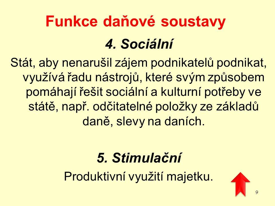 Funkce daňové soustavy 4.