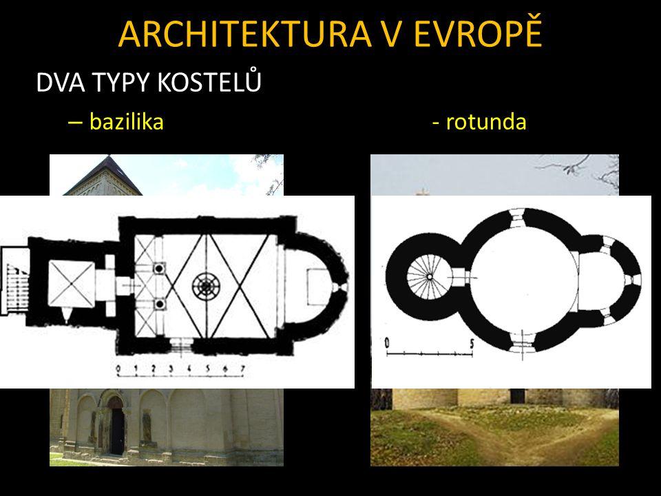 ARCHITEKTURA V EVROPĚ DVA TYPY KOSTELŮ – bazilika- rotunda