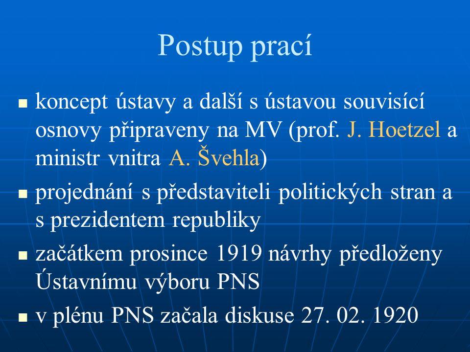 Postup prací koncept ústavy a další s ústavou souvisící osnovy připraveny na MV (prof.
