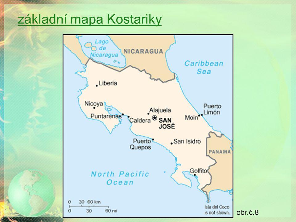 základní mapa Kostariky obr.č.8