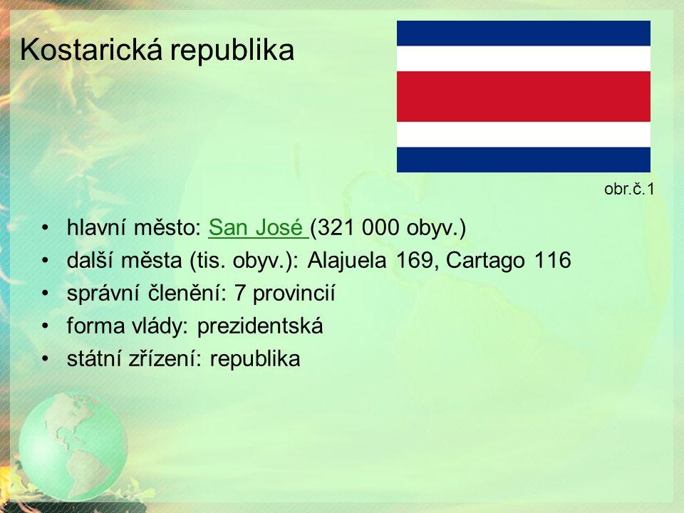 Kostarická republika hlavní město: San José (321 000 obyv.)San José další města (tis.