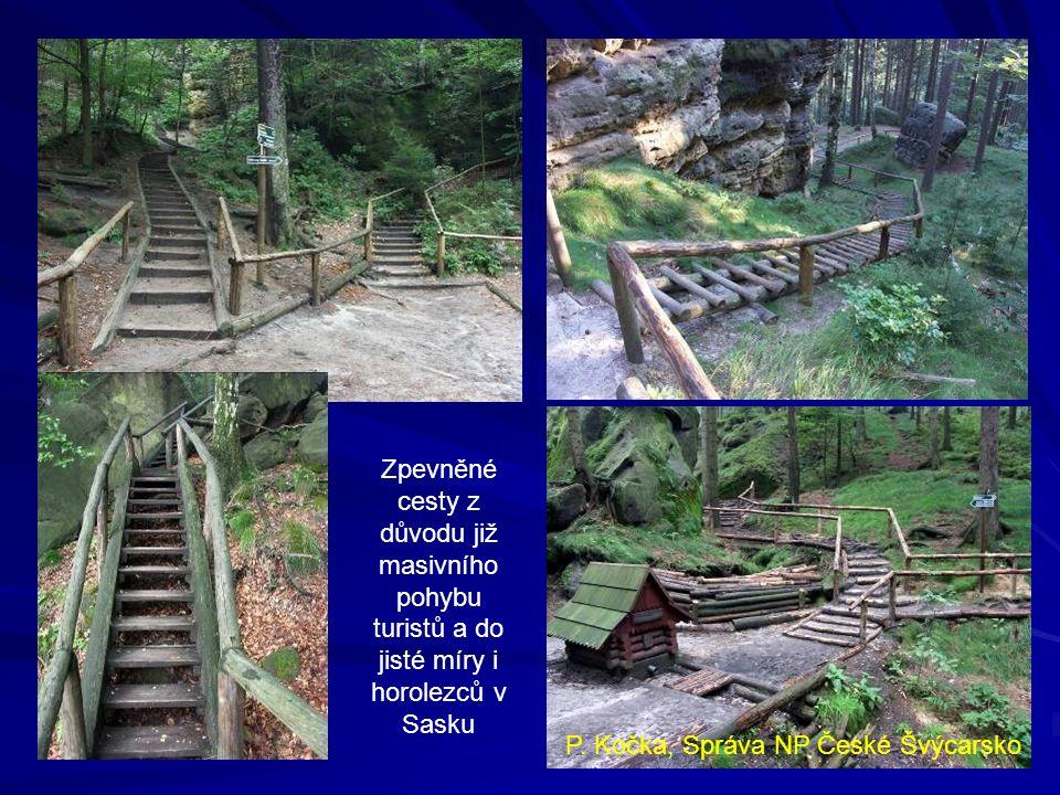 Jetřichovicko – věž s návštěvností kolem 20 lezců za rok erozí zasažená cesta průběh zpevnění konečný stav P.