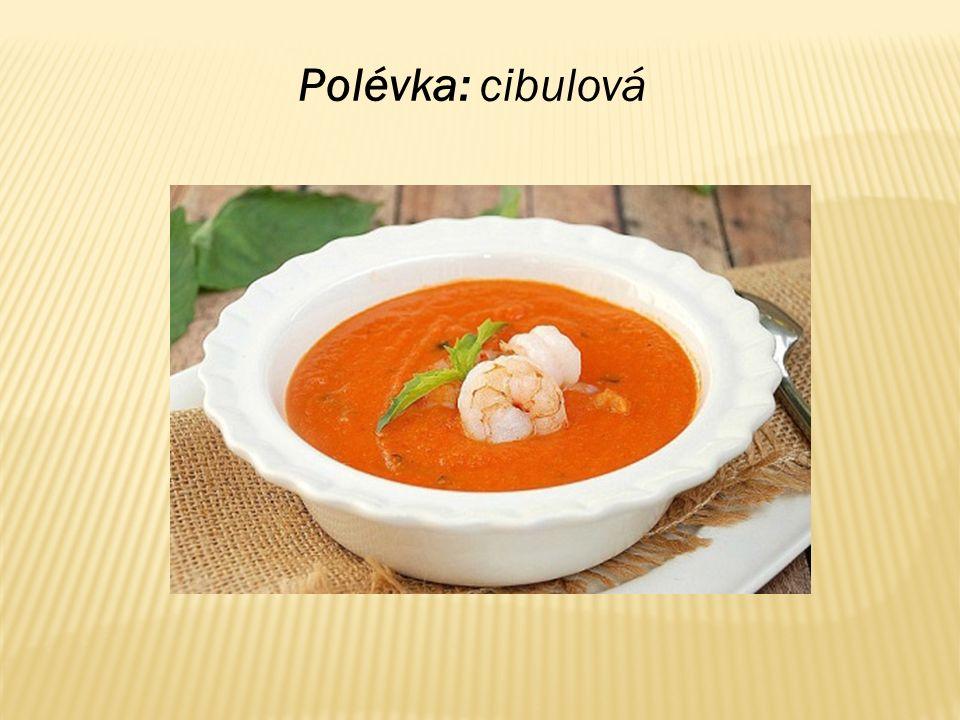 Polévka: cibulová