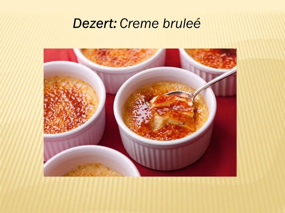 Dezert: Creme bruleé