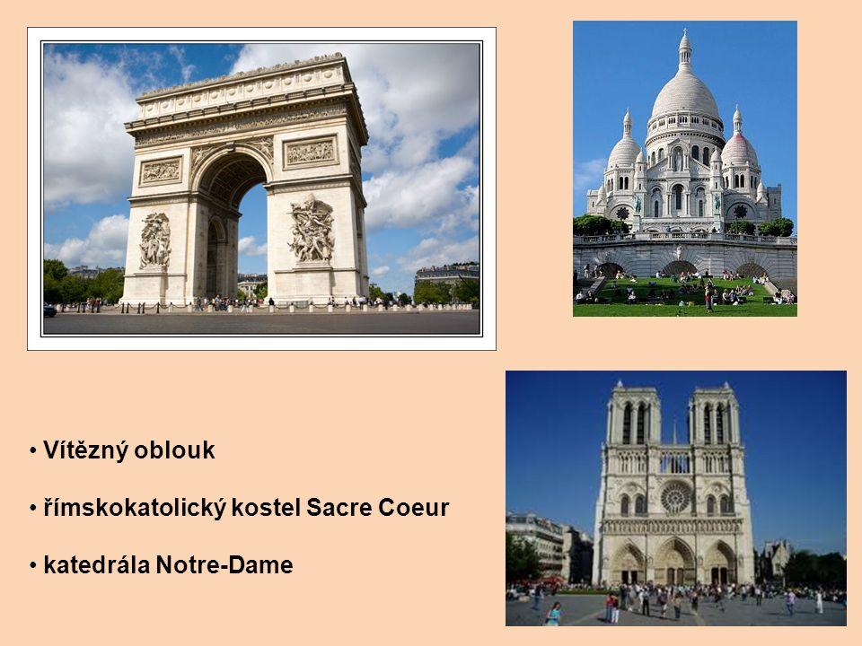 Vítězný oblouk římskokatolický kostel Sacre Coeur katedrála Notre-Dame