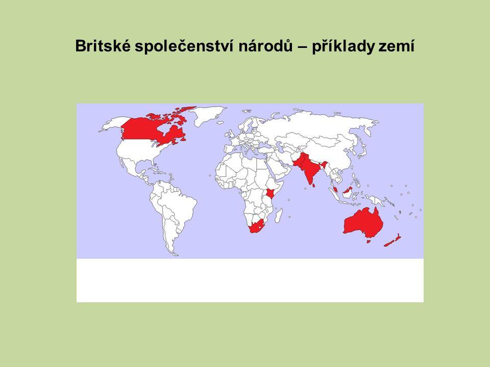 Britské společenství národů – příklady zemí