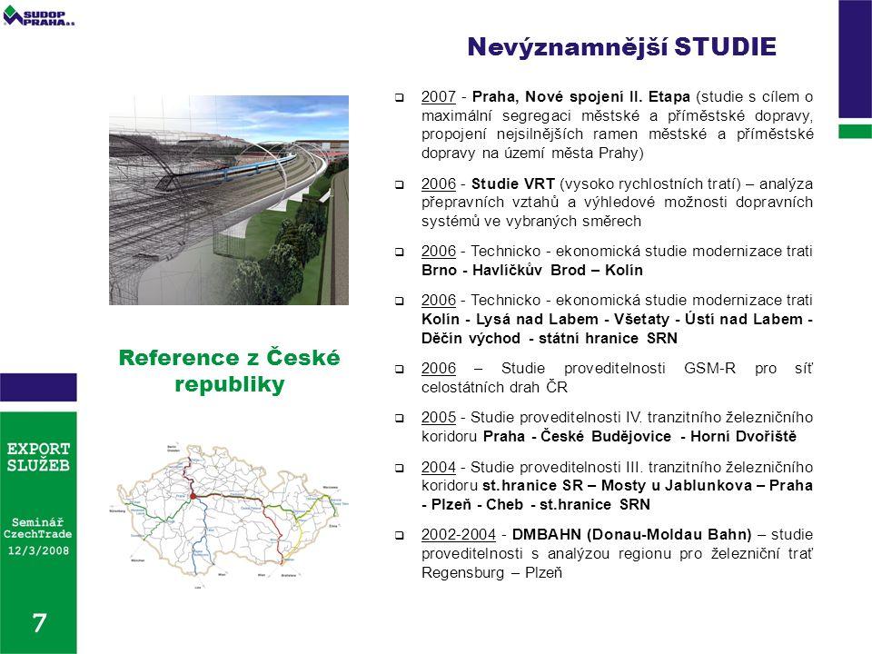 Reference z České republiky  2007 - Praha, Nové spojení II.