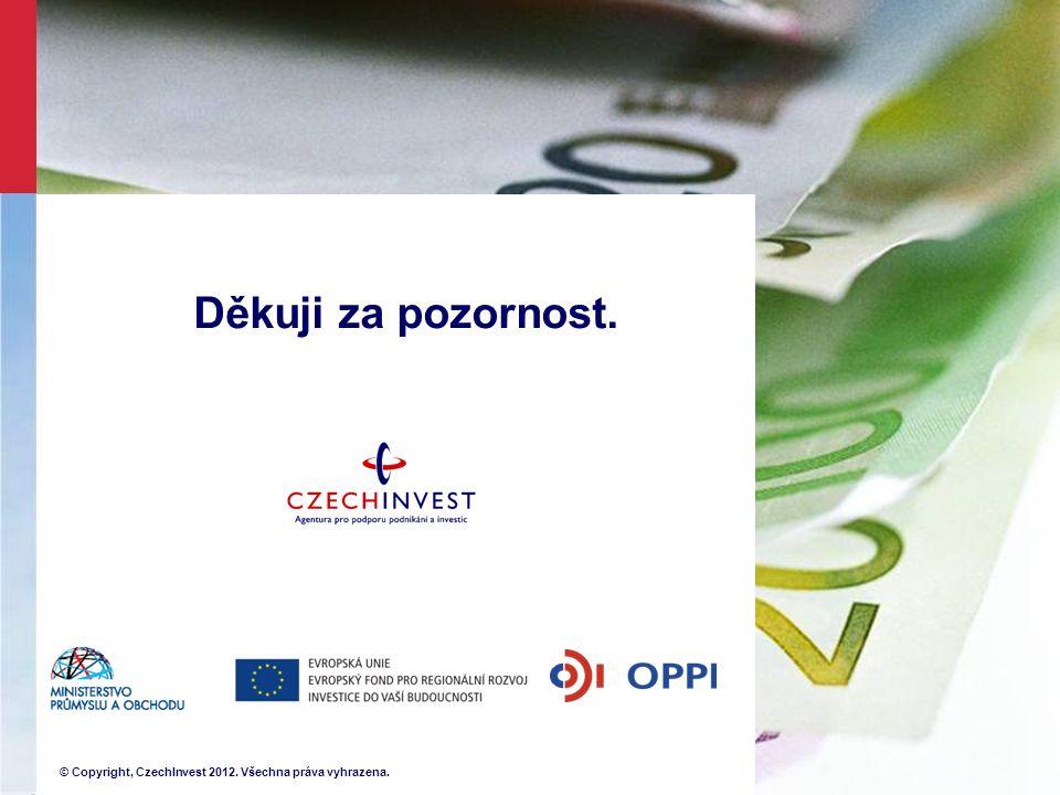 © Copyright, CzechInvest 2012. Všechna práva vyhrazena. Děkuji za pozornost.