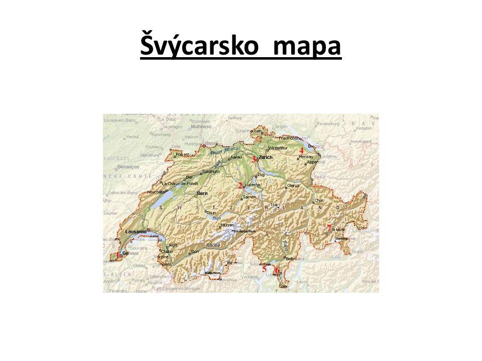 Švýcarsko mapa