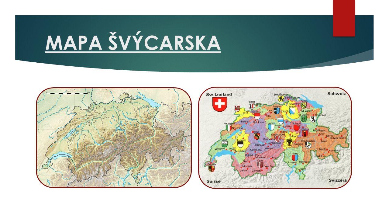 MAPA ŠVÝCARSKA