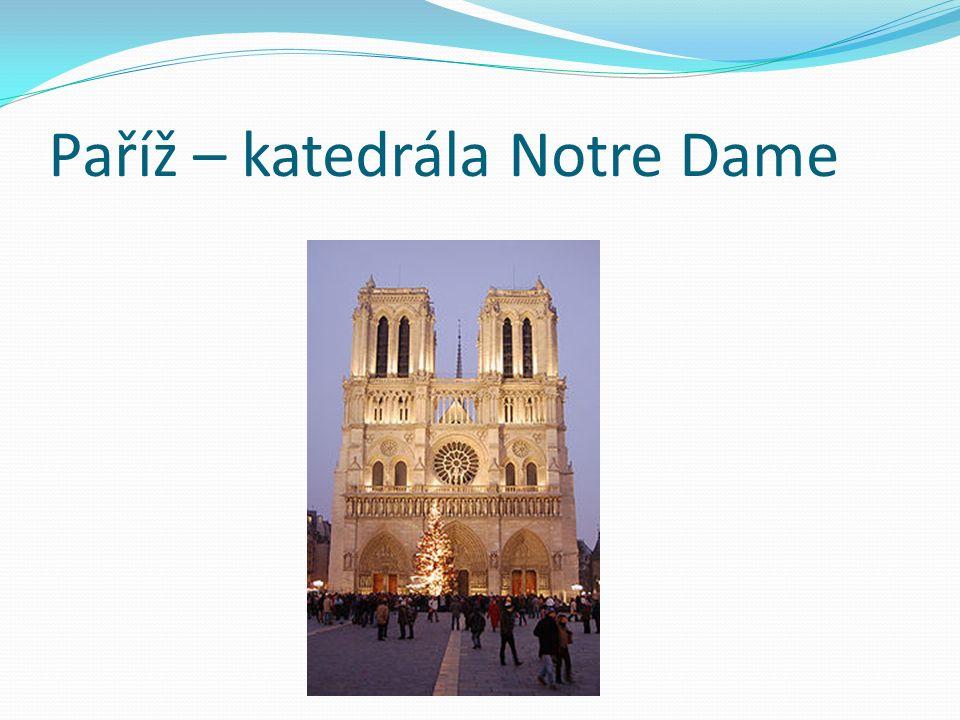 Paříž – katedrála Notre Dame