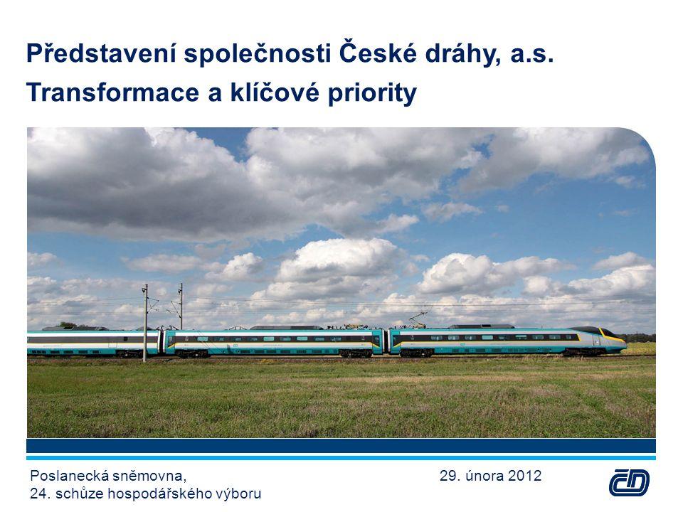 Představení společnosti České dráhy, a.s.