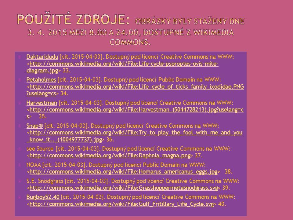  Daktaridudu [cit. 2015-04-03]. Dostupný pod licencí Creative Commons na WWW: 33. Daktariduduhttp://commons.wikimedia.org/wiki/File:Life-cycle-psorop