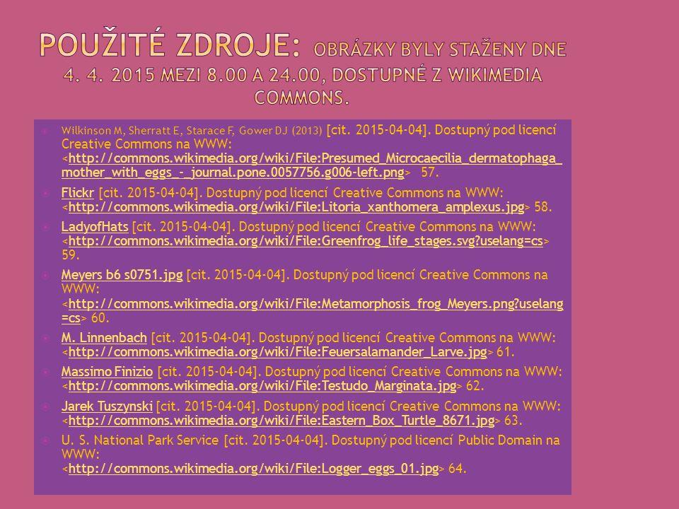  Wilkinson M, Sherratt E, Starace F, Gower DJ (2013) [cit. 2015-04-04]. Dostupný pod licencí Creative Commons na WWW: 57.http://commons.wikimedia.org
