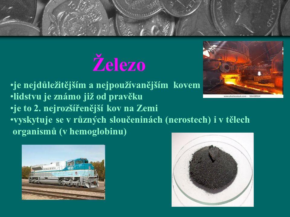 Nejpoužívanější kovy na Zemi Železo, měď, hliník Autor: Mgr. Vlasta Hrušová