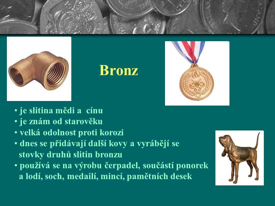 malachit azurit Použití střešní krytiny, okapy elektrické vodiče, integrované obvody kotle, kuchyňské nádobí, chladiče slitiny (bronz a mosaz, dentáln