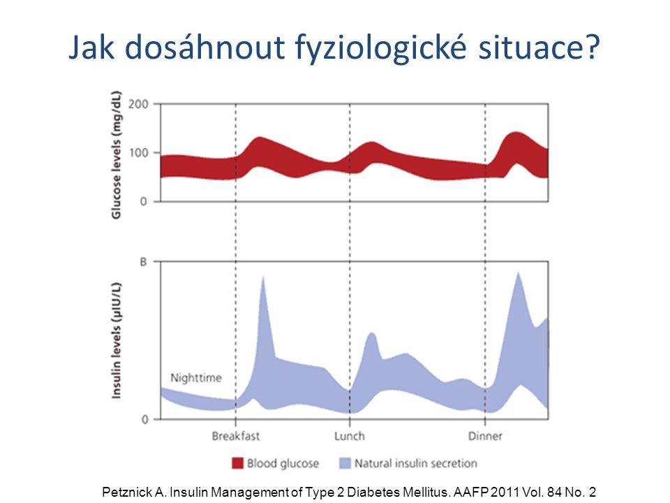 Jak dosáhnout fyziologické situace. Petznick A. Insulin Management of Type 2 Diabetes Mellitus.