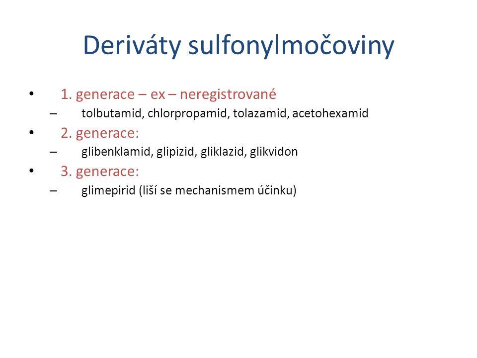 Deriváty sulfonylmočoviny 1.