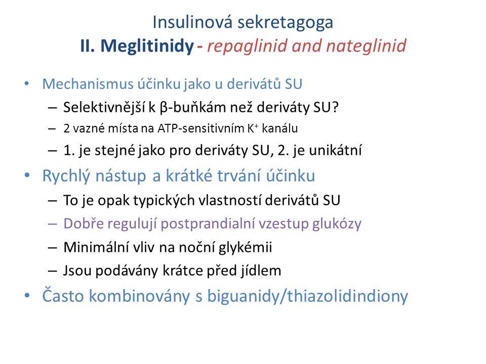 Insulinová sekretagoga II.