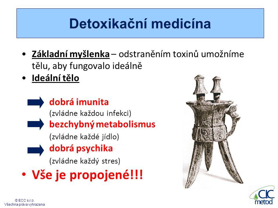 Detoxikační medicína Základní myšlenka – odstraněním toxinů umožníme tělu, aby fungovalo ideálně Ideální tělo dobrá imunita (zvládne každou infekci) b