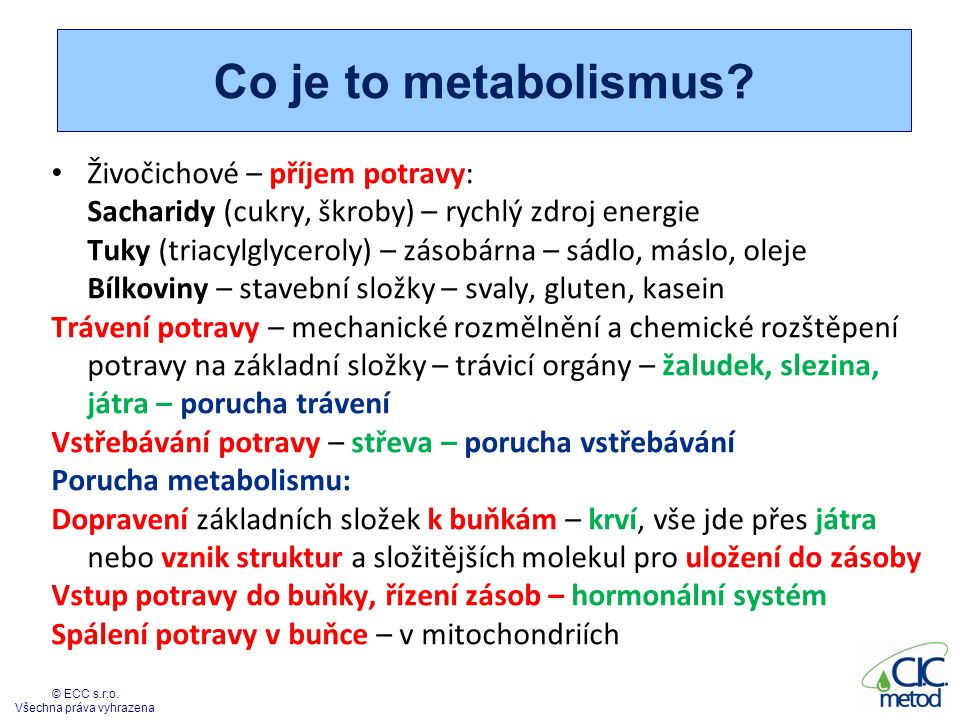 Co je to metabolismus.
