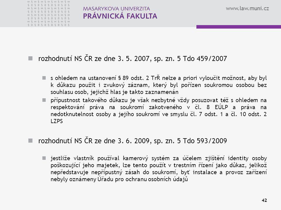 www.law.muni.cz rozhodnutí NS ČR ze dne 3. 5. 2007, sp.